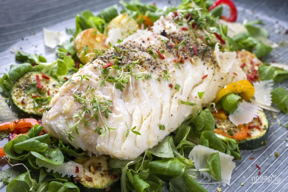 Треска с овощами для похудения