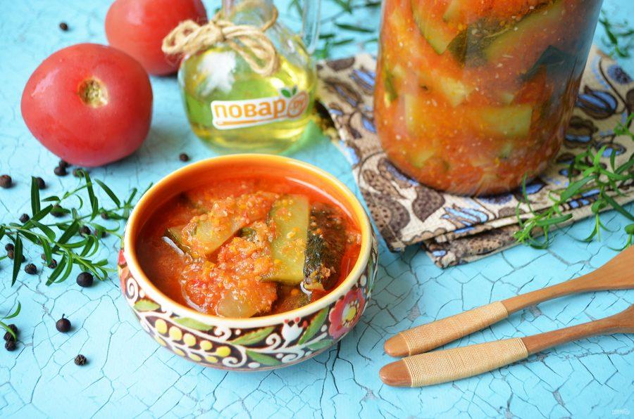 Обалденный салат из кабачков на зиму