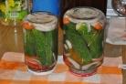 Маринованные огурцы с морковкой и луком