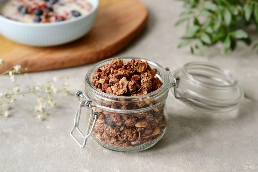 Домашняя гранола с арахисовой пастой