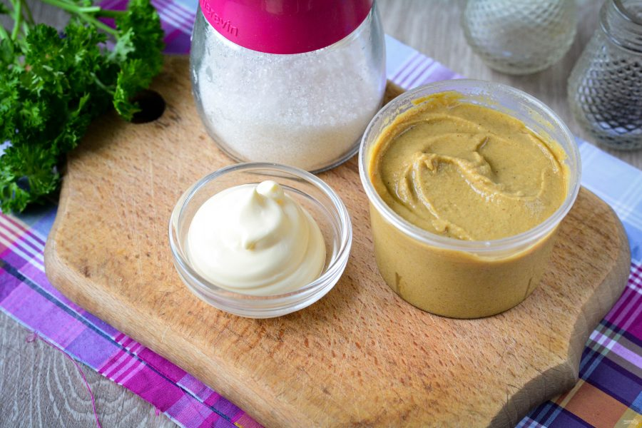 Как приготовить горчичный соус с майонезом