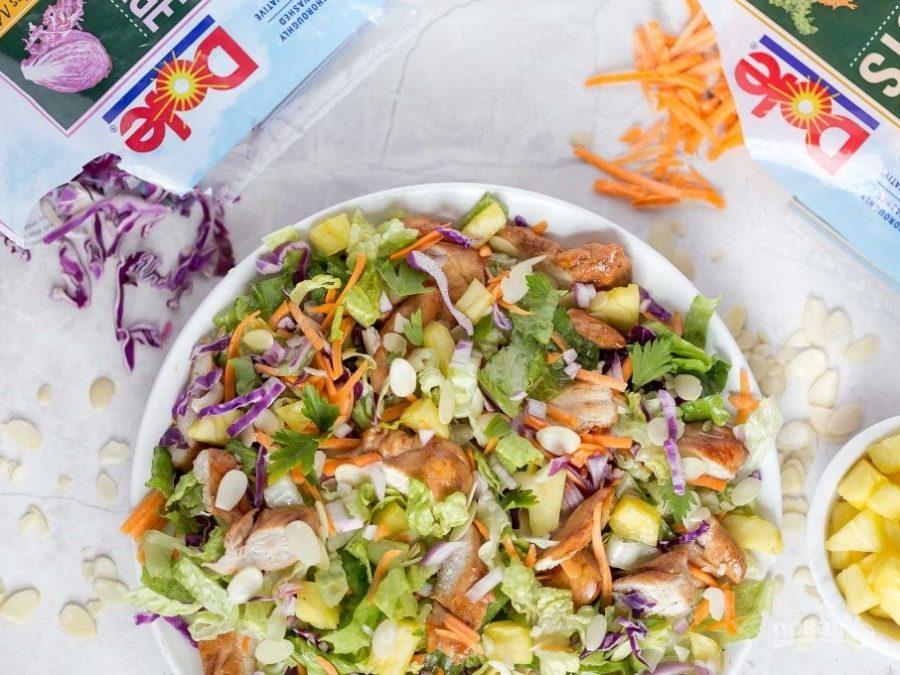 салат из копченой курицы с чесноком