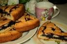 Пирог с черничным джемом
