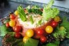 Салат в хлебной корзинке