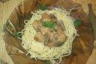 Свинина со сливками на сковороде