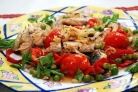 Скумбрия, запеченная с овощами
