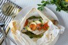 Рыба с овощами в пергаменте