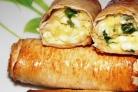 Лаваш с яйцом и зеленью