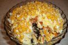 Салат Праздничный с курицей и грибами