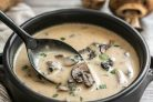 Суп с шампиньонами и сливками