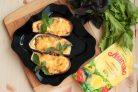 Лучший рецепт фаршированных баклажанов с грибами и майонезом