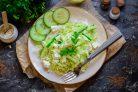 Салат с брынзой и капустой