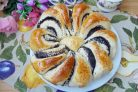 Пирог - цветок с маком