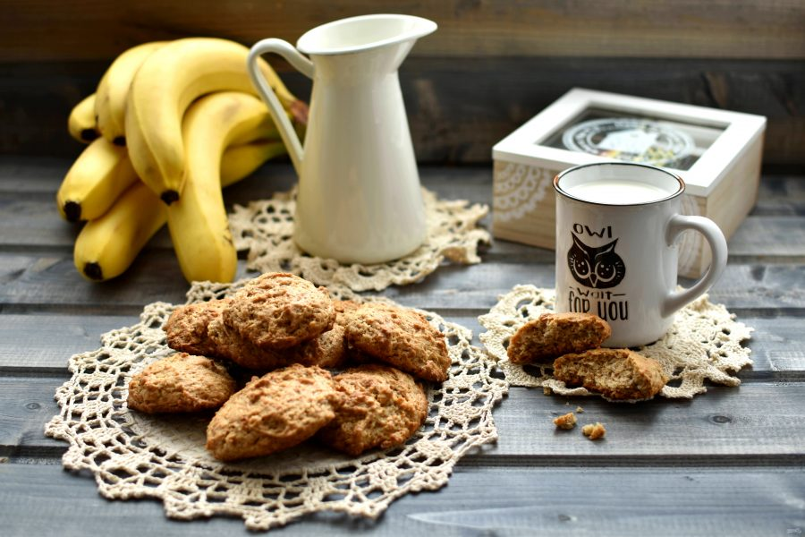 Полезное печенье из геркулеса и бананов