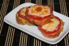 Гренки с помидорами и сыром в духовке