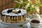 Торт клубнично-банановый с нежным муссом
