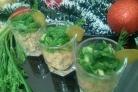 Мясной салат Огонек