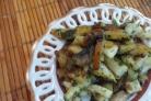Жареная картошка с сушеными грибами