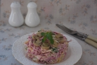 Салат с сыром и овощами