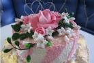 """Торт """"Цветы из мастики"""""""