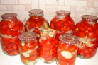 Закатка красных помидоров