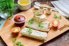 Лаваш с творогом и сыром