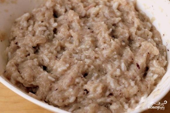 Котлеты из индейки с рисом