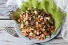 Салат с черным рисом