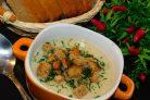 Сливочный суп-пюре с шампиньонами и кабачками