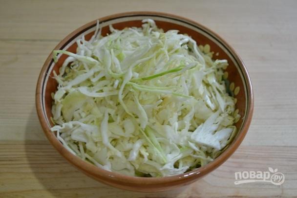 Салат из капусты с горячим маринадом