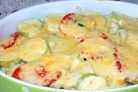 Овощи, запеченные под соусом