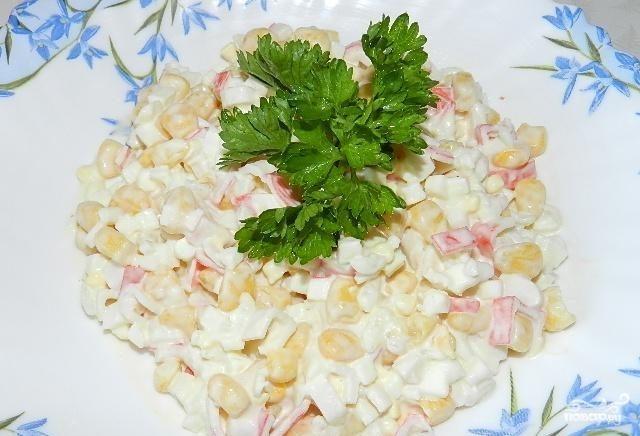 Крабовый салат с капустой – Пошаговый рецепт с фото. Салаты. Вкусные рецепты с фото. Салаты с крабовыми палочками