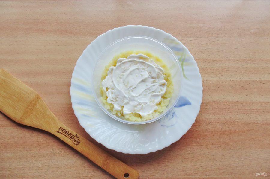 Слоеный салат с бужениной