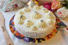 """Бисквитный торт с кремом """"Пломбир"""""""