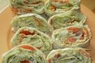 Вегетарианские рулеты из лаваша