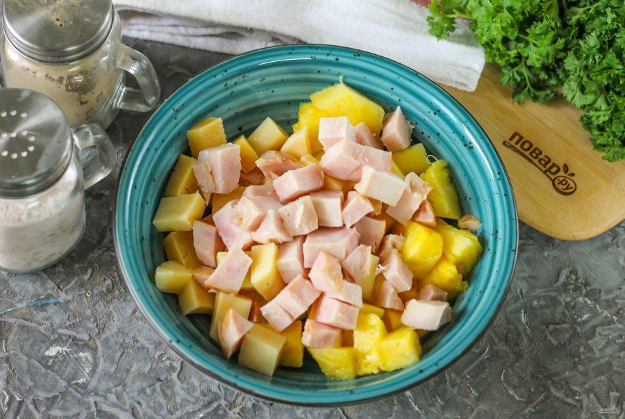 Ингредиенты для салата из трех ингредиентов