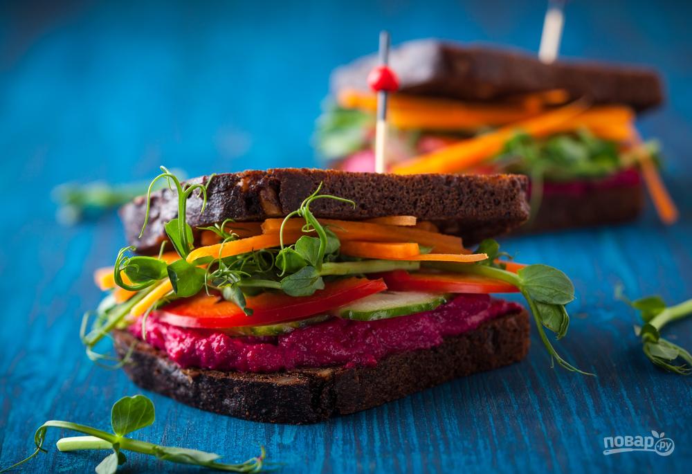 Веганский сэндвич
