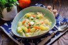Суп с адыгейским сыром