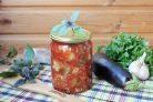 Баклажаны с базиликом и медом на зиму