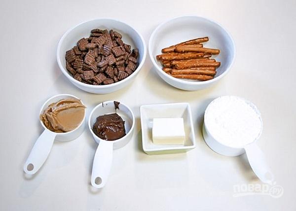 Шишки из шоколадных хлопьев