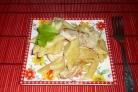 Макароны с курицей в сырном соусе