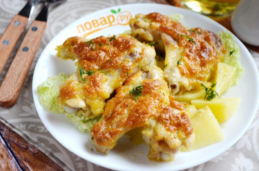 Крылышки с сыром