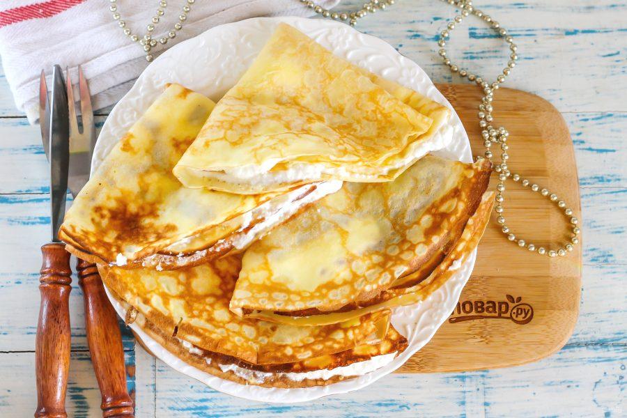 Блинчики с творожным сыром