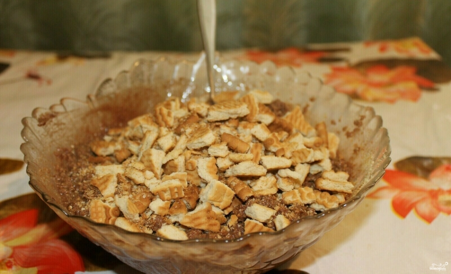 Кондитерская колбаска со сгущенкой