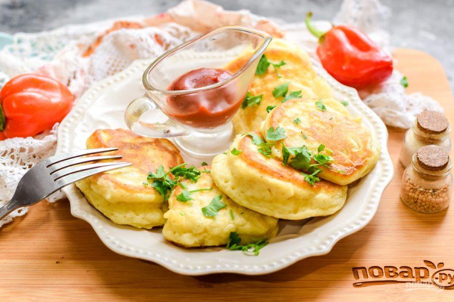 Оладьи на картофельном пюре