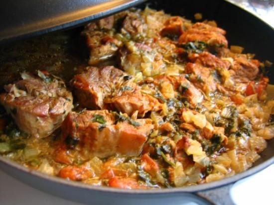 рецепты картофель с мясом в духовке фото