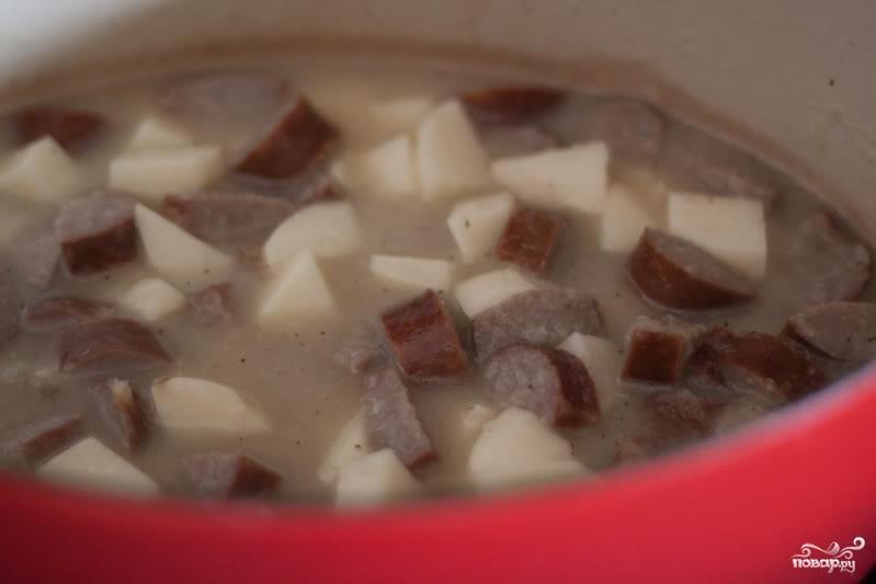 Немецкий суп с колбасками