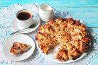 Слоеный пирог с малиновым вареньем