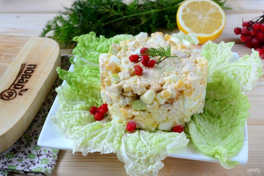 Салат из филе грудки