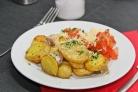 Слоеная картошка со свининой